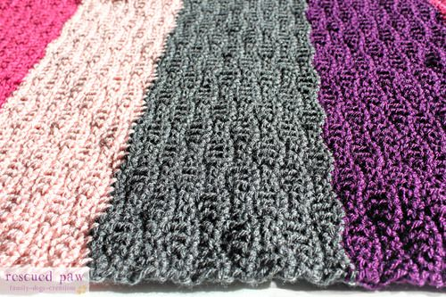 Rescued Paw Crochet Wave Stitch Tutorial Easy instructions how to ...
