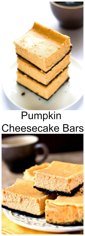 Pumpkin Cheesecake Bars - delicious and creamy pumpkin dessert for ...