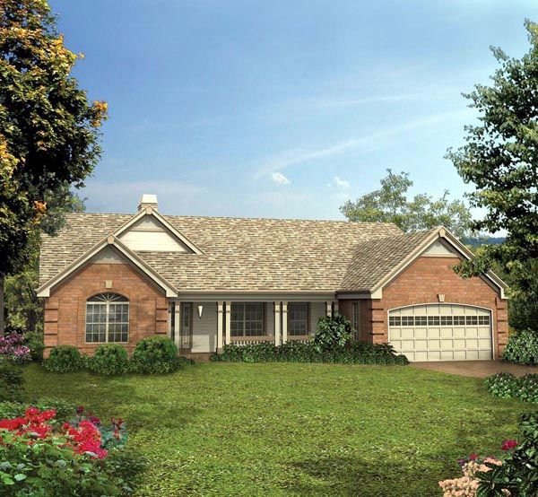 Country Ranch Traditional House Plan 87395