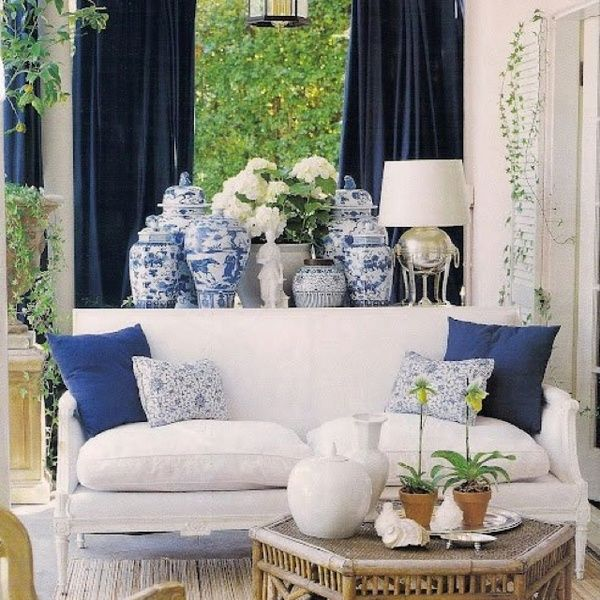 decoração azul e branco!