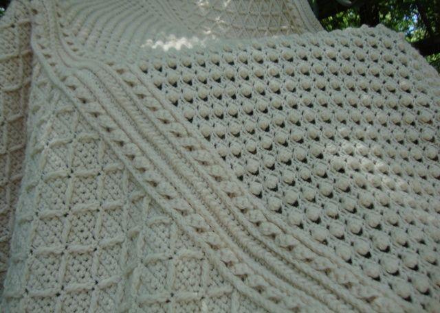 popcorn stitch afgan Knit, Crochet, and Embroidry Pinterest