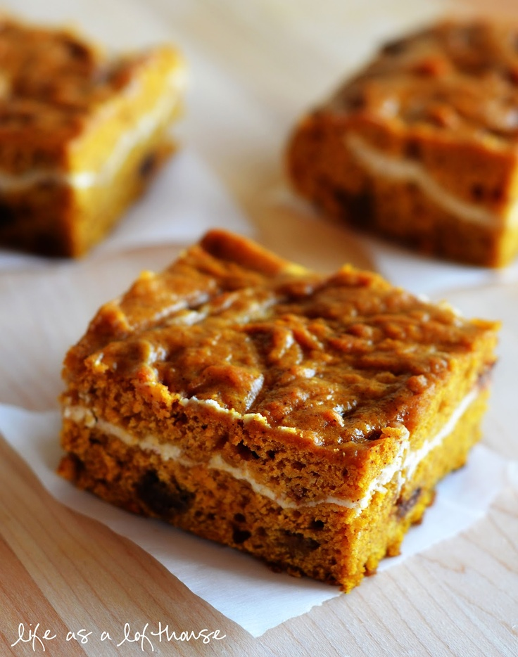 Life as a Lofthouse (Food Blog): Pumpkin Chocolate Chip Bars