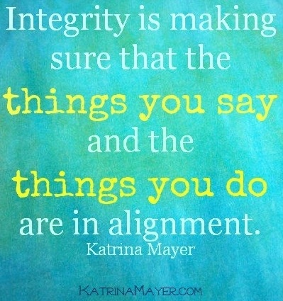 Integrity quote via www.KatrinaMayer.com