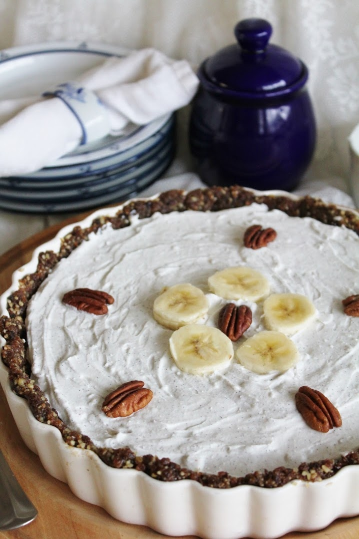 Chocolate Banana Pie with Whipped Coconut Cream *Pecans *Walnuts ...