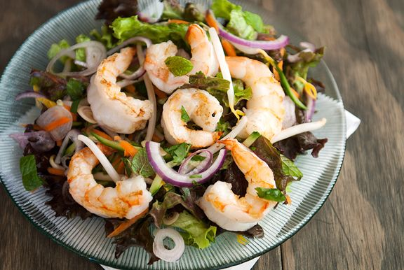 Thai Shrimp Salad - So get out your knives and start perfecting your ...