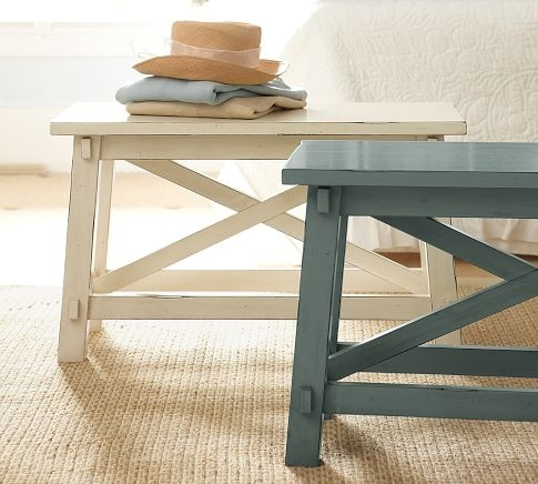 Blakely Rustic Bench Pottery Barn For The Home Pinterest
