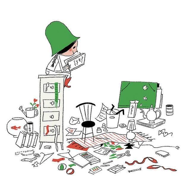 … A break with reading / … Un descanso con lectura (ilustración de Aurelie Guillerey)