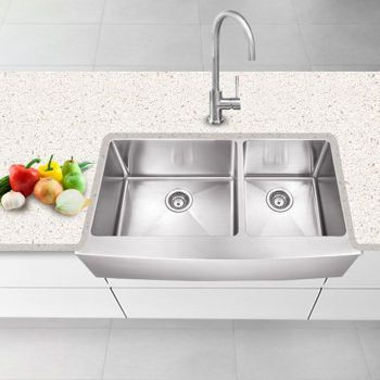 Costco Kitchen Sink : Costco: Hahn? Farmhouse Stainless Steel XL 60/40 Double Bowl Sink