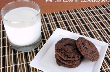 Cocoa Fudge Cookies — Punchfork | Baked Goodness | Pinterest