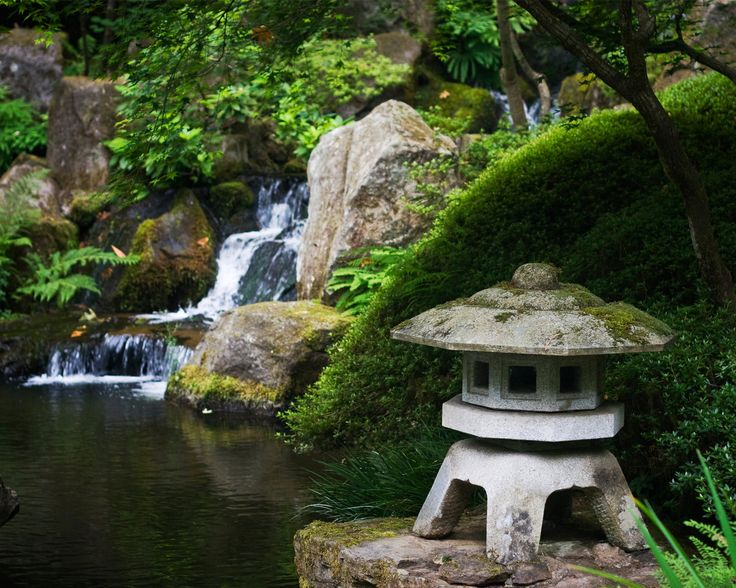 Japanese garden waterfall zen waterfall koi pond pinterest for Zen garden waterfall
