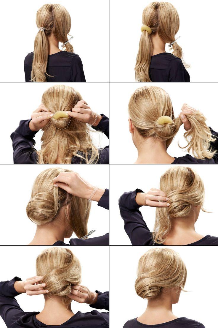 Прически с валиком для волос до плеч