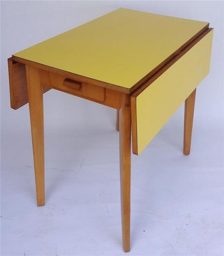 50s yellow formica drop leaf table nest pinterest for Table formica