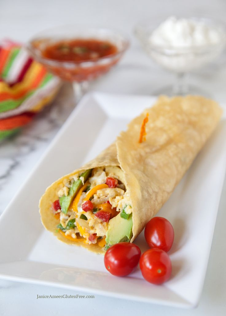 Spanish Scramble Wrap by Janice Amee's Gluten Free (Can be vegan)