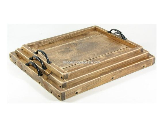 Ottoman Tray Xl Wood Coffee Table Tray Dry Use Serving Tray Wedding G