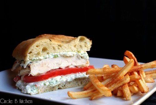 Grilled Chicken Sandwich with Ricotta and Zucchini - Circle B Kitchen ...