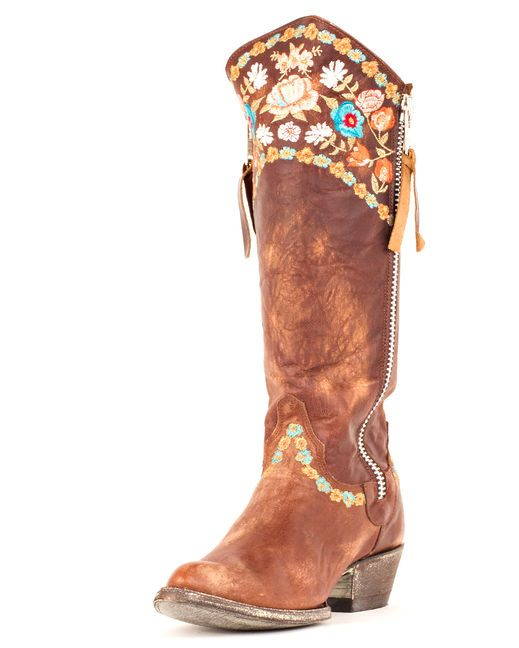 Old Gringo Women's Gaylarazz Boot - Brass/Multi  http://www.countryoutfitter.com/products/31430-womens-gaylarazz-boot-brass-multi #ridingboots