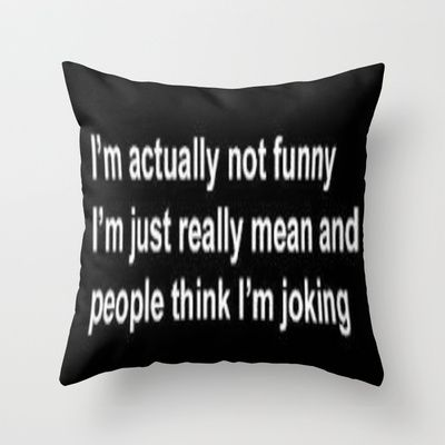 Decorative Pillows Funny : Funny Throw Pillow by LuxuryLivingNYC