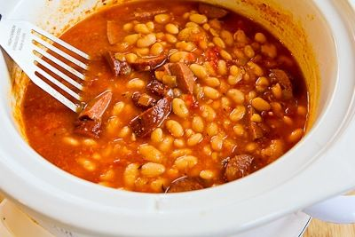 ... for Slow Cooker Kielbasa and White Bean Stew with Tomatoes and Spinach