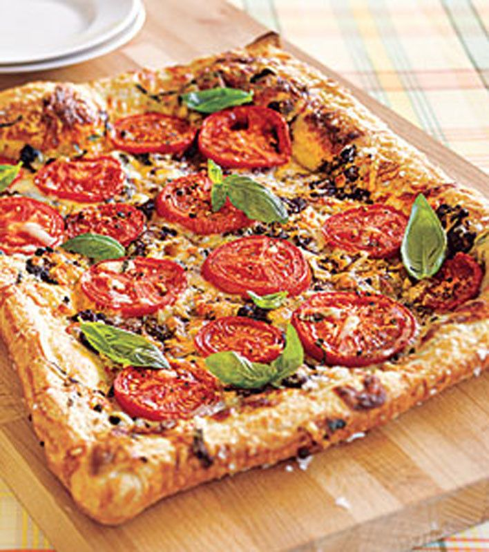 Tomato-Basil Tart | Food - Appetizers/Flatbreads, Pizza ...