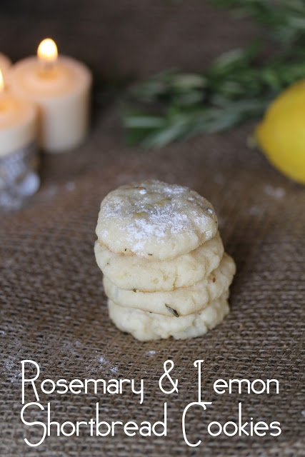 12 Days of Christmas Cookies Day 5: Rosemary Lemon Shortbread Cookies
