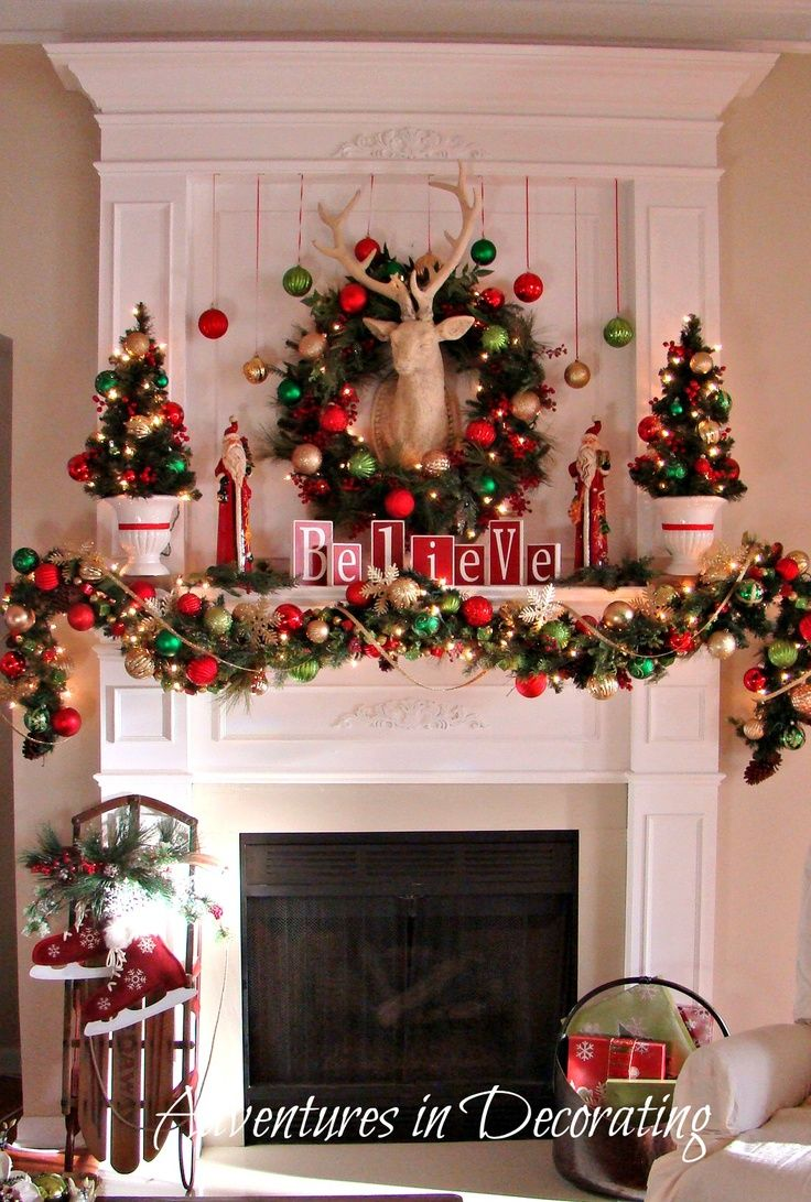 Pin By Style Estate On Christmas Mantels Pinterest