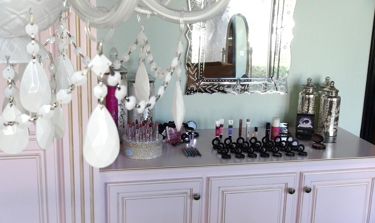 Our vanity inside the Product Development office...