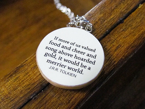 Tolkien charm. From Etsy.