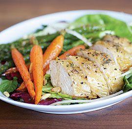 Salad of Roast Chicken & Spring Vegetables with Lemony Dressing | Rec ...