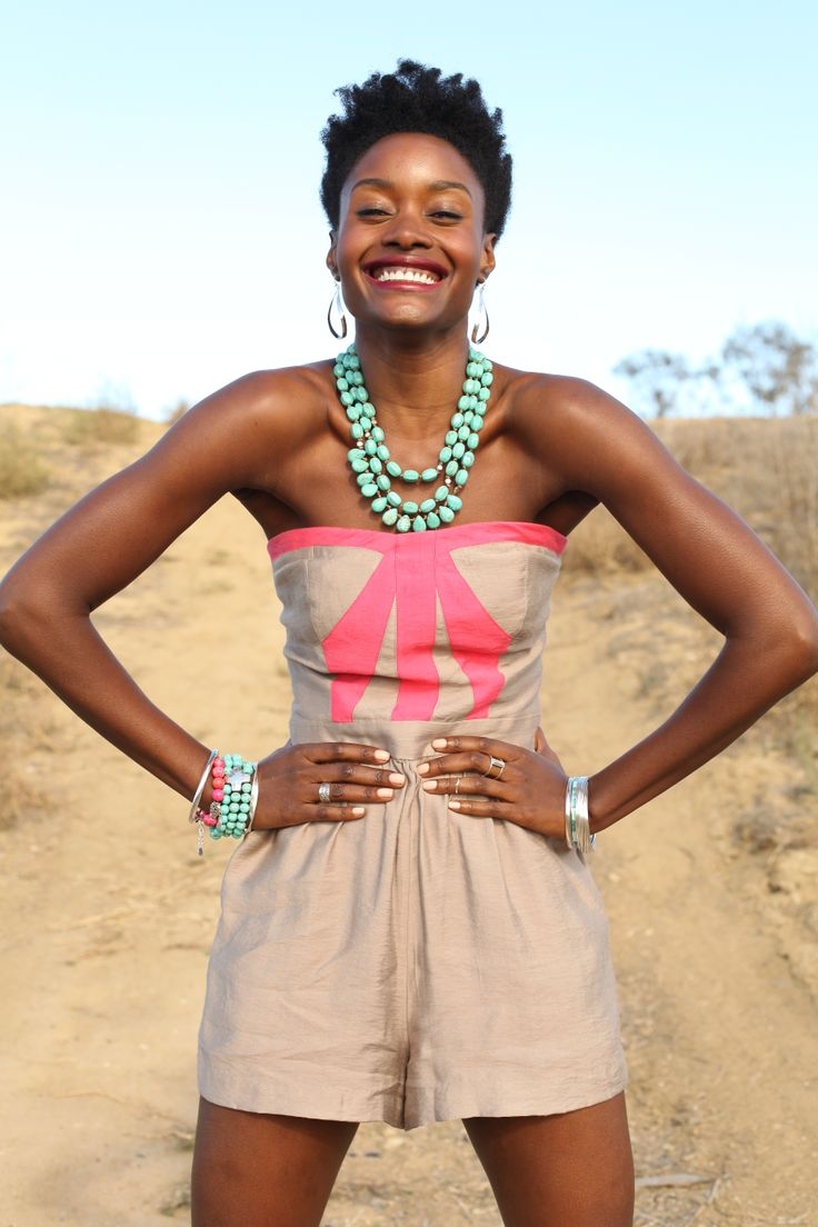 Pump up your #romper outfit with statement jewels! #WomensFashion