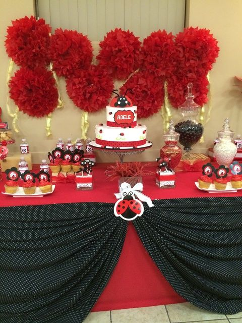ladybugs baby shower party ideas