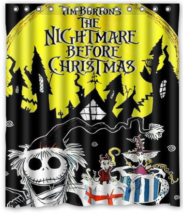"The Nightmare Before Christmas Curtain Bath 66"" x 72"""