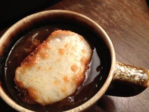 ... onion soup by adding Belgian ale and caramelizing the onions with