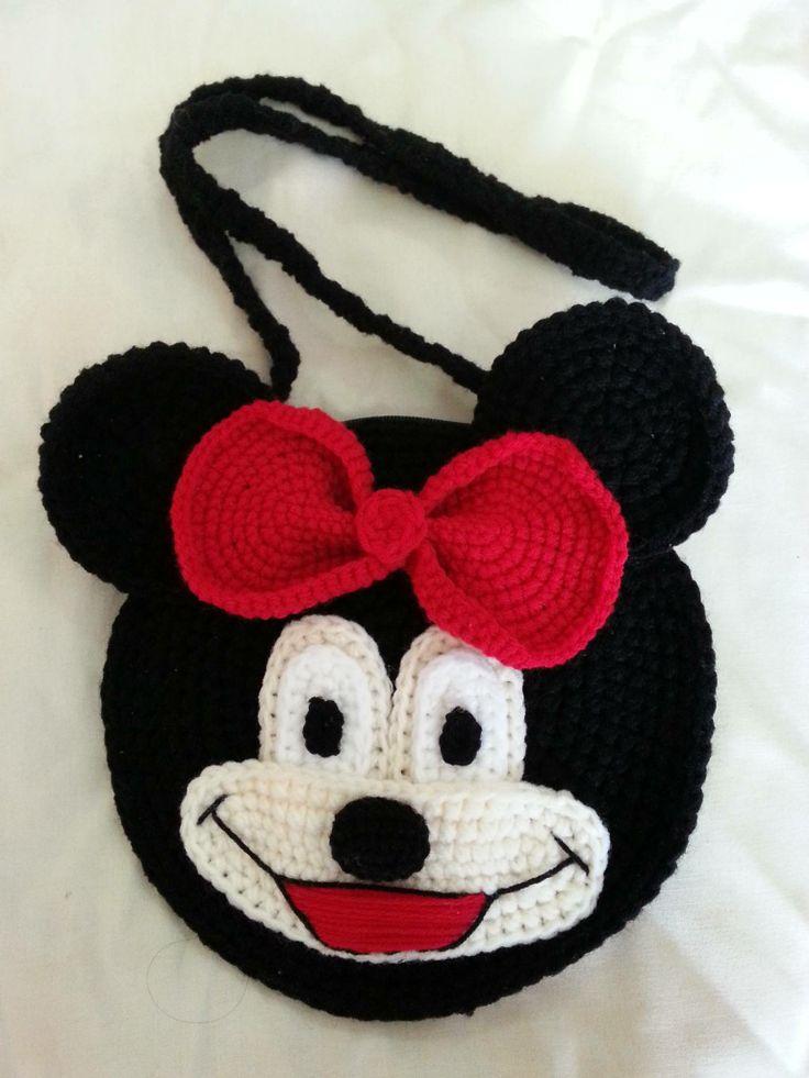 Free Crochet Mickey Mouse Purse Pattern : Handmade crochet bag