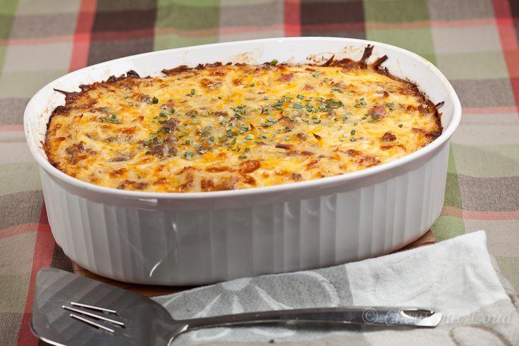 Cheesy Potato Breakfast Casserole - Chew Out Loud