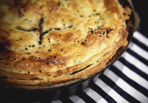 Mushroom and lentil pie. I need this in my life.