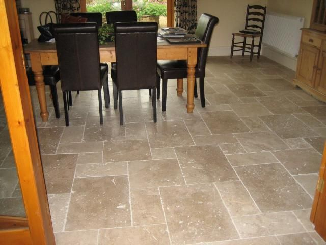 Floor tile pattern home ideas pinterest for Stone kitchen floor ideas