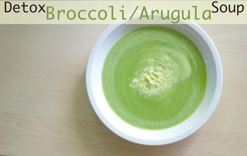 Detox Broccoli Arugula Soup | Clean eating | Pinterest