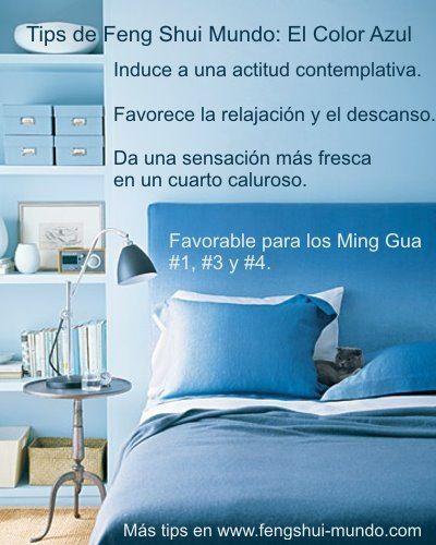 El color azul feng shui tips feng shui ideas pinterest for Tips de feng shui para el hogar