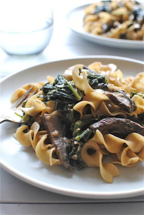 Kale And Mushroom Stroganoff Recipe — Dishmaps