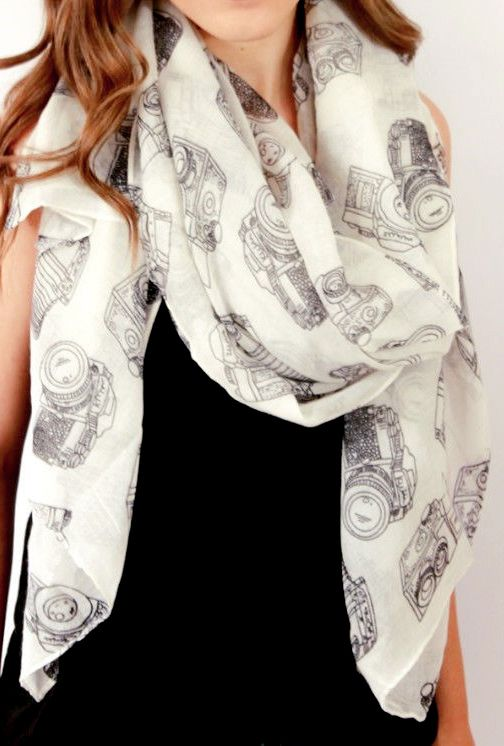 high fashion jewelry Vintage camera scarf  Accessories