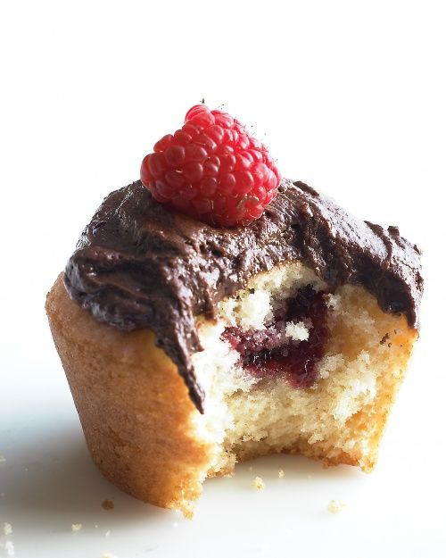 Jam Cupcakes with Chocolate Frosting Recipe