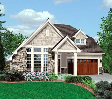 Small Family Cottage Plan With Vaulted Ceilings