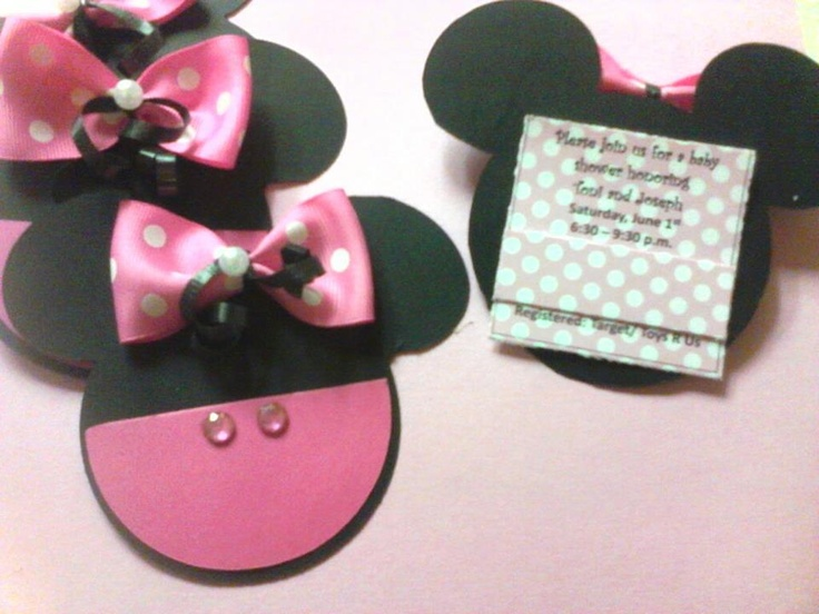 minnie mouse baby shower invitations baby shower ideas pinterest