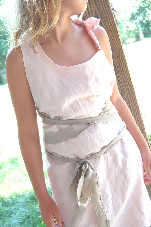 SALE Linen Dress Pale Pink Womens Clothing by OfLinenandLace, $53.50