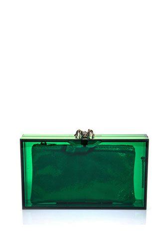 Pandora perspex box clutch and more emerald green finds we love