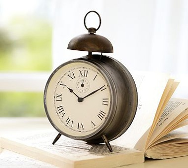 to either my desk or nightstand Vintage Bedside Clock -Pottery Barn