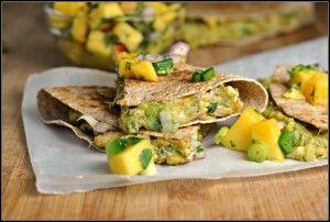 crab and avocado quesadillas | Summer food | Pinterest