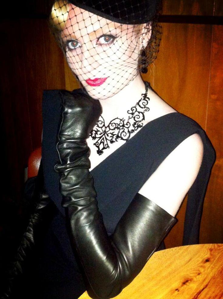 Black gloves porn long