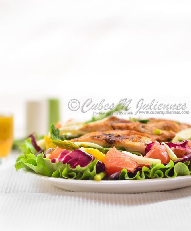 Grilled chicken, fennel and citrus salad   CubesNJuliennes - Food & P ...