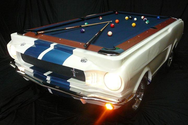 Mustang Entertainment 1965 Ford Car Shaped Pool Table